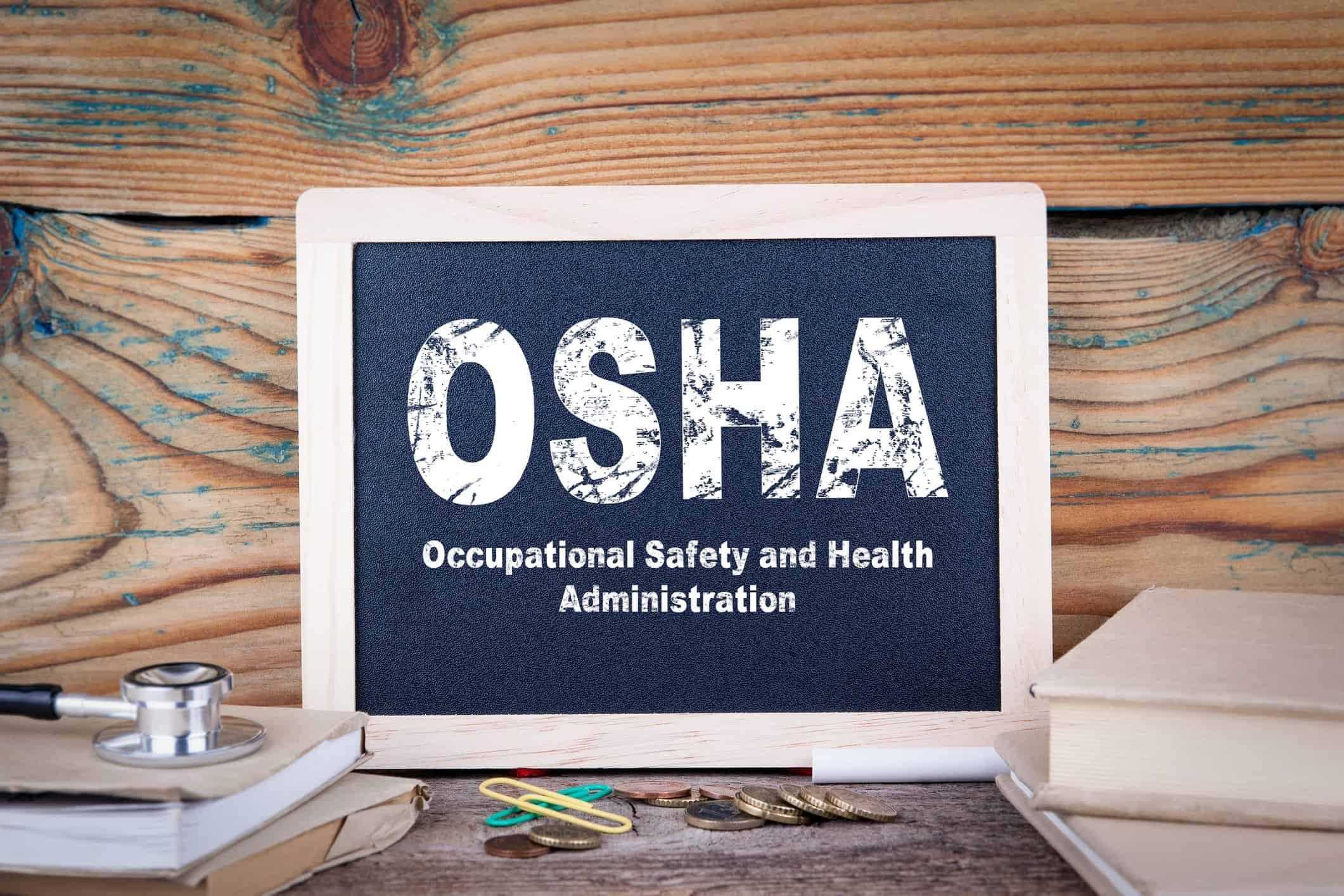 OSHA on Chalkboard